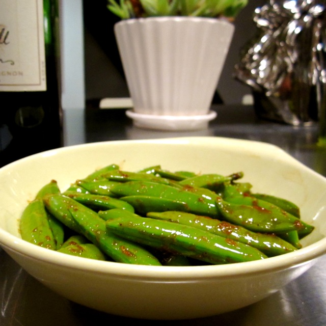 bend and snap peas