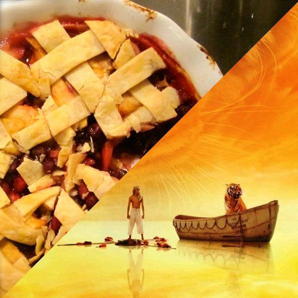 Life of Pi Apple Cranberry Pie