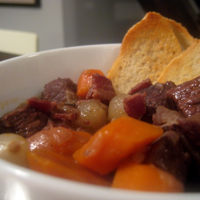 beef bourguignon finished