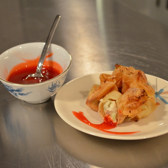 crab rangoons finished