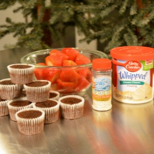 santa claus brownies ingredients