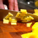 Dicing pineapple
