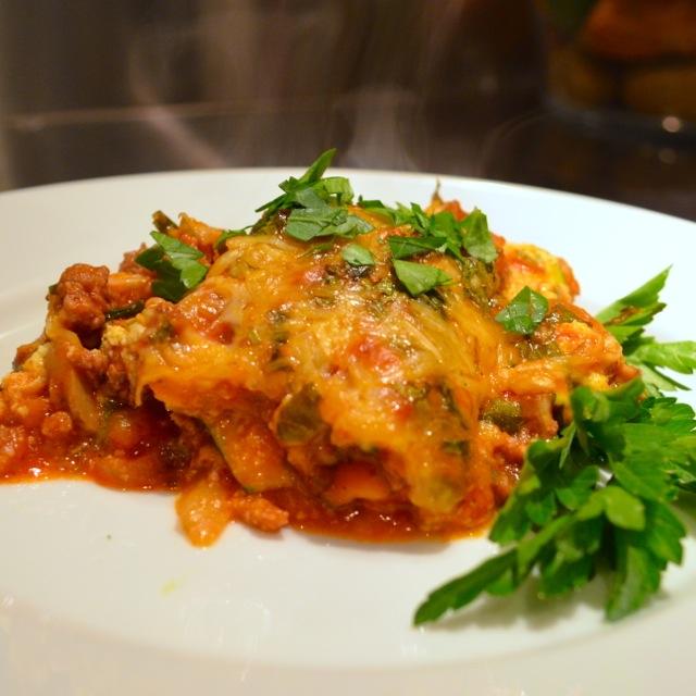 zucchini lasagna - queer in the kitchen