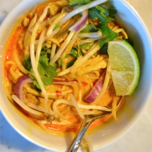 chicken khal soi soup