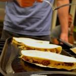 brisket quesadillas grilling