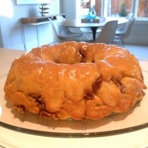 salted caramel monkey bread finished