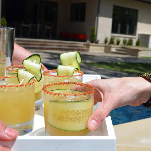 Cucumber Margaritas Finished