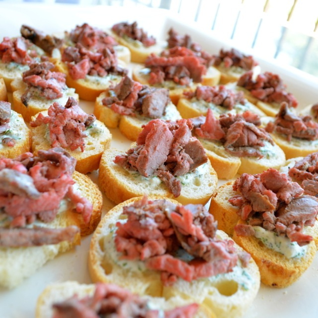 Seared Steak Crostinis