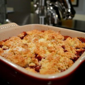 blackberry cobbler baked