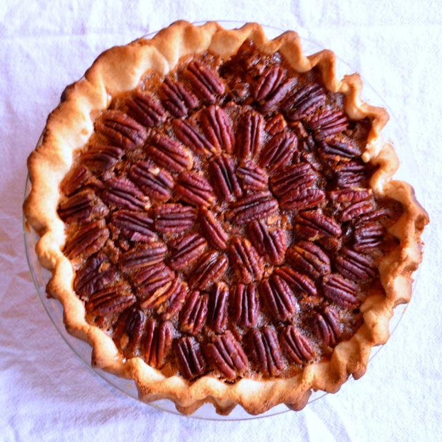 smoked maple whiskey pecan pie adapted from Pioneer Woman
