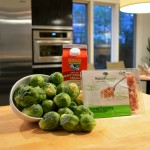 creamy brussels sprouts ingredients