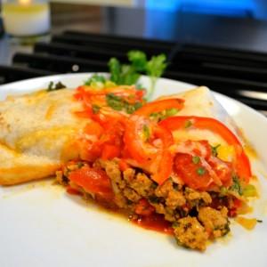 turkey enchiladas plated
