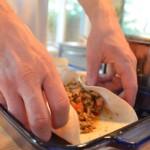 turkey enchiladas wrapping