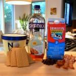 cookies and maple adult milkshakes  ingredients