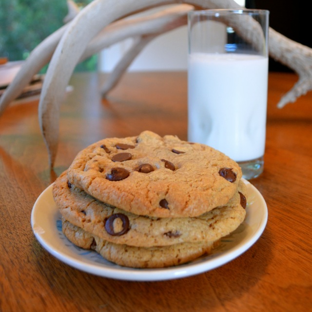 TJ's chocolate chip cookies plated